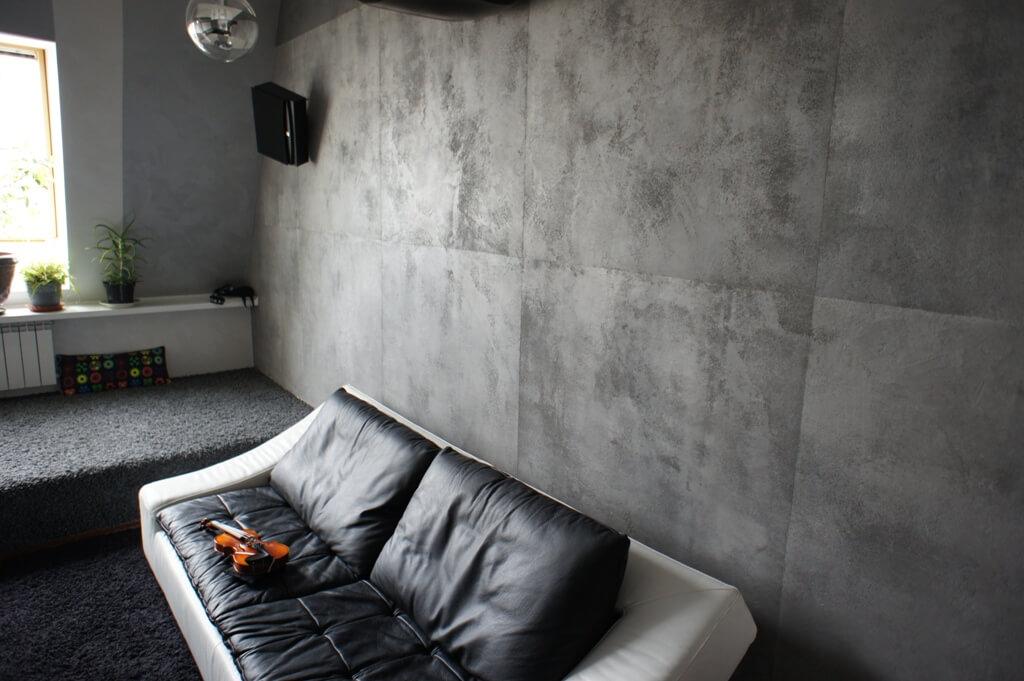 Декоративная штукатурка с эффектом «бетона»